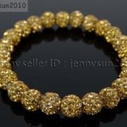 8mm-Czech-Crystal-Rhinestones-Pave-Clay-Round-Disco-Beads-Stretchy-Bracelet-281880718287-3606