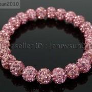 8mm-Czech-Crystal-Rhinestones-Pave-Clay-Round-Disco-Beads-Stretchy-Bracelet-281880718287-3f2f