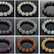 8mm-Czech-Crystal-Rhinestones-Pave-Clay-Round-Disco-Beads-Stretchy-Bracelet-281880718287-4