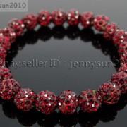 8mm-Czech-Crystal-Rhinestones-Pave-Clay-Round-Disco-Beads-Stretchy-Bracelet-281880718287-5191