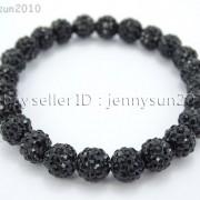 8mm-Czech-Crystal-Rhinestones-Pave-Clay-Round-Disco-Beads-Stretchy-Bracelet-281880718287-54d6