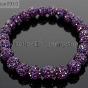 8mm-Czech-Crystal-Rhinestones-Pave-Clay-Round-Disco-Beads-Stretchy-Bracelet-281880718287-6378