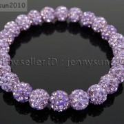 8mm-Czech-Crystal-Rhinestones-Pave-Clay-Round-Disco-Beads-Stretchy-Bracelet-281880718287-63f9