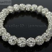 8mm-Czech-Crystal-Rhinestones-Pave-Clay-Round-Disco-Beads-Stretchy-Bracelet-281880718287-64fc