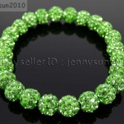 8mm-Czech-Crystal-Rhinestones-Pave-Clay-Round-Disco-Beads-Stretchy-Bracelet-281880718287-6776