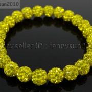 8mm-Czech-Crystal-Rhinestones-Pave-Clay-Round-Disco-Beads-Stretchy-Bracelet-281880718287-6f0e