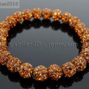 8mm-Czech-Crystal-Rhinestones-Pave-Clay-Round-Disco-Beads-Stretchy-Bracelet-281880718287-8bf6