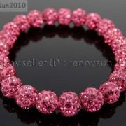 8mm-Czech-Crystal-Rhinestones-Pave-Clay-Round-Disco-Beads-Stretchy-Bracelet-281880718287-9218