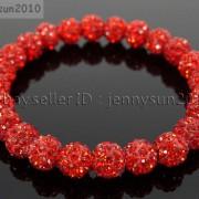 8mm-Czech-Crystal-Rhinestones-Pave-Clay-Round-Disco-Beads-Stretchy-Bracelet-281880718287-a4b6