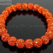 8mm-Czech-Crystal-Rhinestones-Pave-Clay-Round-Disco-Beads-Stretchy-Bracelet-281880718287-a845
