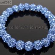 8mm-Czech-Crystal-Rhinestones-Pave-Clay-Round-Disco-Beads-Stretchy-Bracelet-281880718287-b6ab