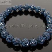 8mm-Czech-Crystal-Rhinestones-Pave-Clay-Round-Disco-Beads-Stretchy-Bracelet-281880718287-c0a5