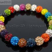 8mm-Czech-Crystal-Rhinestones-Pave-Clay-Round-Disco-Beads-Stretchy-Bracelet-281880718287-d01f