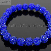 8mm-Czech-Crystal-Rhinestones-Pave-Clay-Round-Disco-Beads-Stretchy-Bracelet-281880718287-d4bc