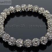 8mm-Czech-Crystal-Rhinestones-Pave-Clay-Round-Disco-Beads-Stretchy-Bracelet-281880718287-df07