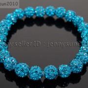 8mm-Czech-Crystal-Rhinestones-Pave-Clay-Round-Disco-Beads-Stretchy-Bracelet-281880718287-e463
