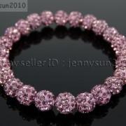 8mm-Czech-Crystal-Rhinestones-Pave-Clay-Round-Disco-Beads-Stretchy-Bracelet-281880718287-ebcb
