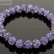 8mm-Czech-Crystal-Rhinestones-Pave-Clay-Round-Disco-Beads-Stretchy-Bracelet-281880718287-eea1