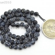 Black-Fire-Crackle-Agate-Gemstones-Faceted-Round-Beads-145quot-6mm-8mm-10mm-12mm-262198147802-9c8f