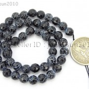 Black-Fire-Crackle-Agate-Gemstones-Faceted-Round-Beads-145quot-6mm-8mm-10mm-12mm-262198147802-fa0b
