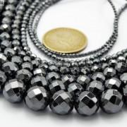 Black-Hematite-Gemstone-Faceted-Round-Beads-155-2mm-3mm-4mm-6mm-8mm-10mm-12mm-261614836509
