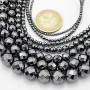 Black-Hematite-Gemstone-Faceted-Round-Beads-155-2mm-3mm-4mm-6mm-8mm-10mm-12mm-261614836509-2