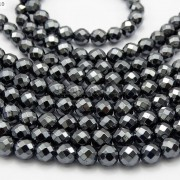 Black-Hematite-Gemstone-Faceted-Round-Beads-155-2mm-3mm-4mm-6mm-8mm-10mm-12mm-261614836509-4