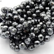 Black-Hematite-Gemstone-Faceted-Round-Beads-155-2mm-3mm-4mm-6mm-8mm-10mm-12mm-261614836509-5