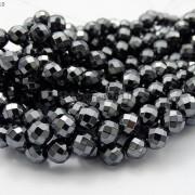 Black-Hematite-Gemstone-Faceted-Round-Beads-155-2mm-3mm-4mm-6mm-8mm-10mm-12mm-261614836509-6