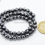Black-Hematite-Gemstone-Faceted-Round-Beads-155039039-2mm-3mm-4mm-6mm-8mm-10mm-12mm-261614836509-e93c