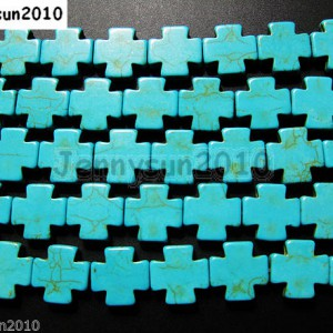 Blue-Howlite-Turquoise-Gemstone-Side-Ways-15mm-Square-Cross-Spacer-Beads-16-281071052279