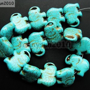 Blue-Howlite-Turquoise-Gemstone-Side-Ways-Flat-Elephant-Loose-Beads-16-261248537331