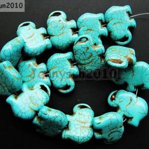 Blue-Howlite-Turquoise-Gemstone-Side-Ways-Flat-Elephant-Loose-Beads-16-261248537331