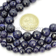 Blue-Sand-Stone-Gemstone-Faceted-Round-Spacer-Loose-Beads-15-8mm-10mm-12mm-371774314046-2
