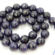 Blue-Sand-Stone-Gemstone-Faceted-Round-Spacer-Loose-Beads-15-8mm-10mm-12mm-371774314046-3