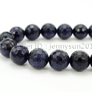 Blue-Sand-Stone-Gemstone-Faceted-Round-Spacer-Loose-Beads-15-8mm-10mm-12mm-371774314046-4
