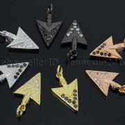 Clear-Black-Zircon-Gemstones-Pave-Triangle-Arrowhead-Pendant-Charm-Beads-262897503867-4