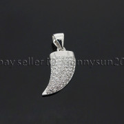 Clear-Zircon-Gemstone-Pave-Horn-Tusk-Tooth-Spike-Pendant-Charm-Beads-Silver-Gold-262799996677-1936