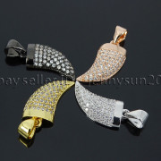 Clear-Zircon-Gemstone-Pave-Horn-Tusk-Tooth-Spike-Pendant-Charm-Beads-Silver-Gold-262799996677-4