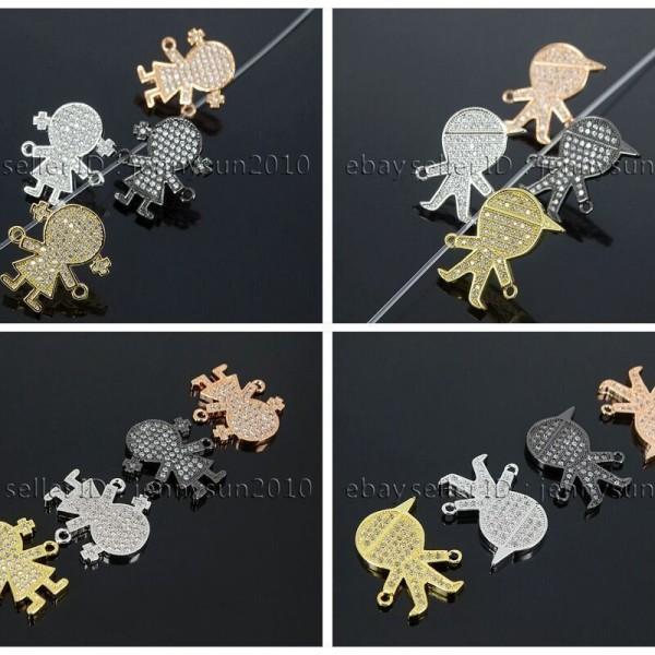 Clear-Zircon-Gemstones-Pave-Boy-Girl-Bracelet-Connector-Charm-Beads-262790809020