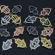 Clear-Zircon-Gemstones-Pave-Lucky-Eye-Hamsa-Hand-Bracelet-Connector-Charm-Beads-371825851684
