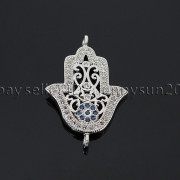 Clear-Zircon-Gemstones-Pave-Lucky-Eye-Hamsa-Hand-Bracelet-Connector-Charm-Beads-371825851684-357f
