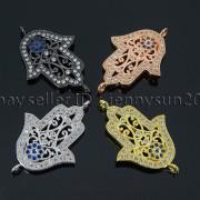 Clear-Zircon-Gemstones-Pave-Lucky-Eye-Hamsa-Hand-Bracelet-Connector-Charm-Beads-371825851684-4