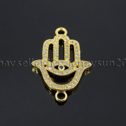Clear-Zircon-Gemstones-Pave-Lucky-Eye-Hamsa-Hand-Bracelet-Connector-Charm-Beads-371825851684-7a41