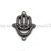 Clear-Zircon-Gemstones-Pave-Lucky-Eye-Hamsa-Hand-Bracelet-Connector-Charm-Beads-371825851684-ad6b