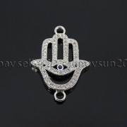 Clear-Zircon-Gemstones-Pave-Lucky-Eye-Hamsa-Hand-Bracelet-Connector-Charm-Beads-371825851684-b753