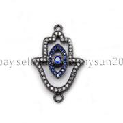 Clear-Zircon-Gemstones-Pave-Lucky-Eye-Hamsa-Hand-Bracelet-Connector-Charm-Beads-371825851684-d5ca
