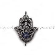 Clear-Zircon-Gemstones-Pave-Lucky-Eye-Hamsa-Hand-Bracelet-Connector-Charm-Beads-371825851684-da20