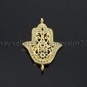 Clear-Zircon-Gemstones-Pave-Lucky-Eye-Hamsa-Hand-Bracelet-Connector-Charm-Beads-371825851684-fd8b