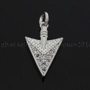 Clear-amp-Black-Zircon-Gemstones-Pave-Triangle-Arrowhead-Pendant-Charm-Beads-262897503867-649c